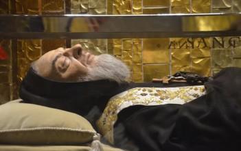 Il corpo di Padre Pio
