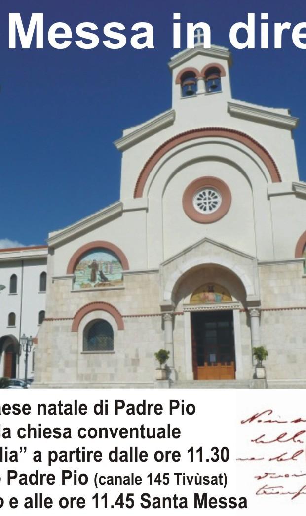 Santa Messa in diretta Tv da Pietrelcina