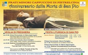 Anniversario della morte di Padre Pio 23 settembre 2015