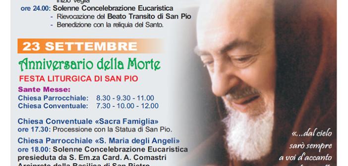 Festa liturgica di San Pio 22-23 settembre