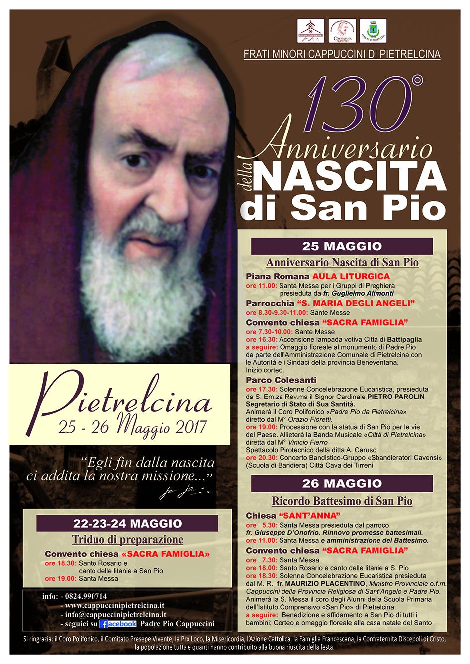 Ben noto 130° Anniversario della Nascita di San Pio - Padre Pio - Convento  ZX47