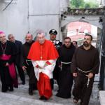Il Cardinale visita i luoghi di Padre Pio