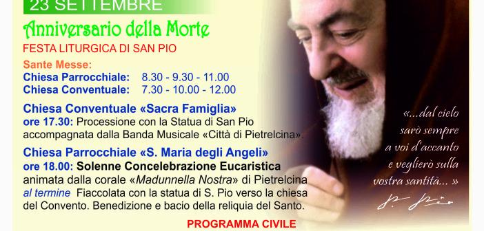 Pietrelcina 23 settembre: FESTA LITURGICA DI SAN PIO