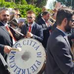 """La Banda Musicale """"Città di Pietrelcina"""" che ha accolto l'arrivo del treno"""