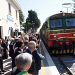 L'arrivo alle 11.30 del treno in Pietrelcina
