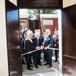 Il taglio del nastro che inaugura la nuova stazione di Pietrelcina