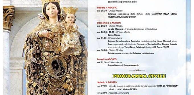 FESTA PATRONALE DI MARIA SS. DELLA LIBERA