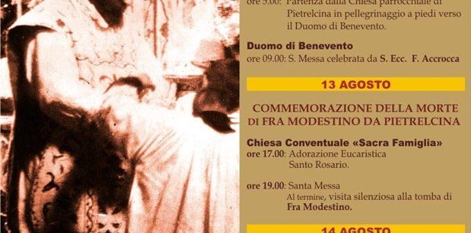 Anniversari: Prima Messa di padre Pio e morte di fr. Modestino